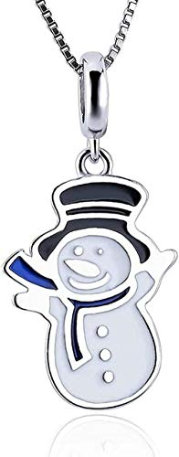 DUEJJH Co.,ltd Muñeco de Nieve navideño Charm Colgante Collar MakingSilver Jewelry Making Pulsera