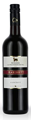 Württemberger Wein Weinsberger Tal Samtrot Kabinett halbtrocken (1 x 0.75 l)