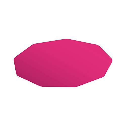 Floortex Pink Gaming Chair Floor Mat Durable 9-Sided Polycarbonate Compact 38 x 39 inch Carpet Protector for Gamers Streaming and VR