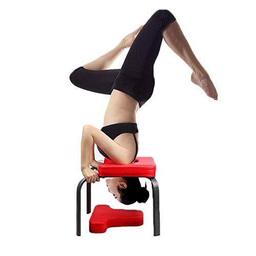 Suppemie Taburete de yoga para la cabeza, taburete para la cabeza, banco de yoga, para familia, gimnasio, almohadillas de madera y poliuretano, alivia la fatiga y refuerza el cuerpo.