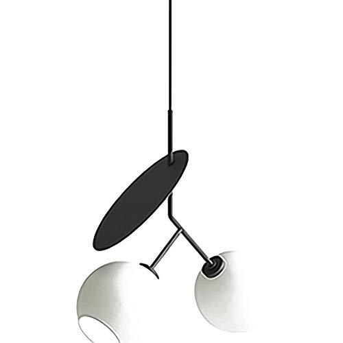 WYBW Candelabro , Moderno Loft Lámpara colgante Candelabro de cerezo Decoraciones de interior de metal Lámpara de cabecera Luz colgante Lámpara de techo Edison ajustable en altura Lámpara blanca,Blan