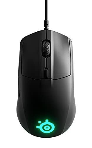 SteelSeries Rival 3 Gaming Mouse - 8,500 CPI TrueMove Core Optical Sensor - 6 Programmable Buttons - Split Trigger Buttons - Brilliant Prism RGB Lighting