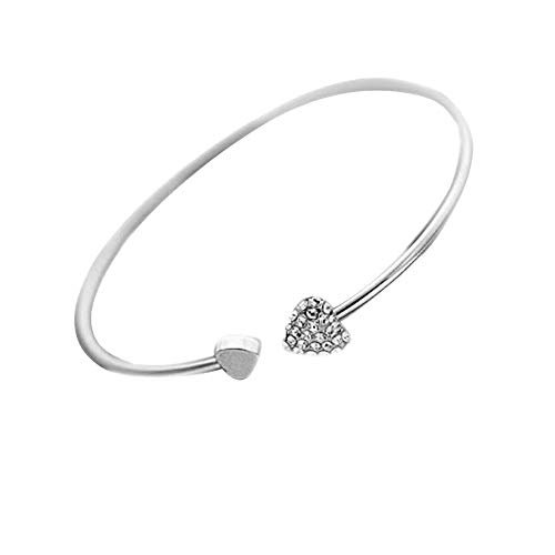 2019 New Heart Crystal Love Opening Bracelet Crystal Bracelets Bracelets For Women Bracelets Jewelry & Watches For Woman Valentine Easter Gift