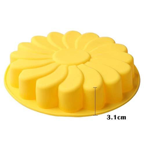 Silicone bakvormen grote bloem cake cooking gebakje Gereedschap 3D cijfer Pizza brood vormpan DIY huwelijksverjaardag,H065