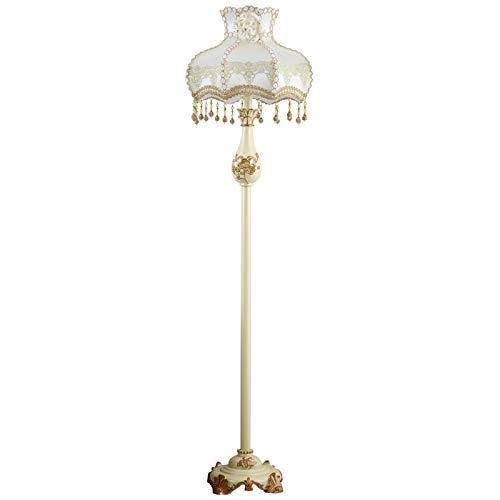 Lámparas de pie para salón Lámparas de pie nórdicas para la sala de estar Lámpara de pie europea dormitorio de la cama de la cama de la noche de la lámpara de flor de la resina de la luz de la luminar