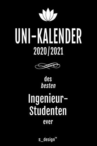 Studienplaner / Studienkalender / Studenten-Kalender 2020 / 2021 für Ingenieur-Studenten / Ingenieur-Student: Semester-Planer / Uni-Kalender von Oktober 2020 bis Oktober 2021