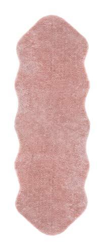 Andiamo Lammfell, synthetischer Florteppich, Pink, 55 x 160 cm, 1 Einheit