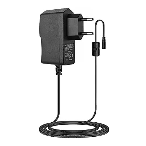 JIUYECAO Adaptador de pedal de efectos de guitarra de 9 V, adaptador de corriente AC/Dc de 9 V, adaptador de cable de alimentación CC listado UL 5.5 x 2.1 mm centro positivo DC Jack 6.6 pies