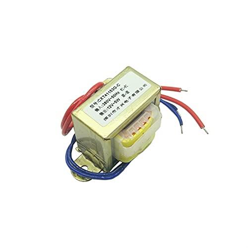 LIUZHENQIANG Lzqiang EI41 5W Transformador de energía DB-5VA 380V a 9V / 12V / 15V / 18V / 24V / 220V AC (Color : 380V to Single 12V)
