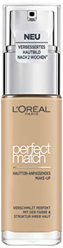 mächtig L'Oreal Paris Perfect Match Makeup 3.N Cremiges Beige, flüssiges Make-up,…