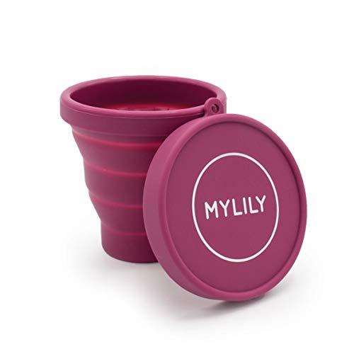 MYLILY® Menstruationstassen Case | Reinigungsbecher für die Mikrowelle | Faltbar | Sterilisierbecher für Aufbewahrung und Reinigung | 200ml Fassungsvermögen