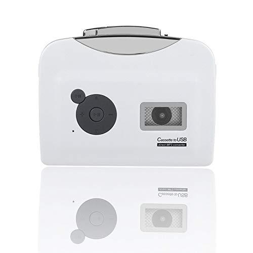 Lazmin112 Lettore di Cassette standalone, USB Cassette Tape to MP3 Converter Direttamente su USB Disk Audio Music Player con Auricolari