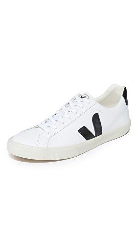 Veja Men's Esplar Leather Sneakers, Extra White/Black, 9 Medium US