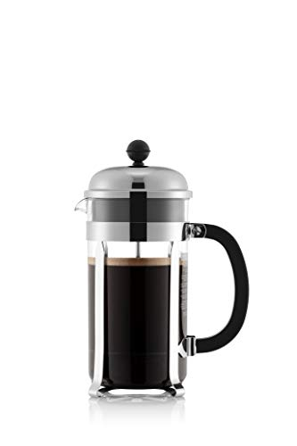 Bodum Chambord SAN French Press Kaffeebereiter aus Kunststoff, 964 ml, Chrom