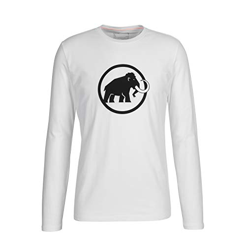Mammut Logo T-Shirt à Manches Longue Homme Bright White FR : 2XL (Taille Fabricant : XXL)