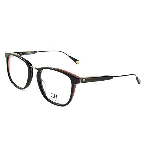 Carolina Herrera VHE8125109H7 Gafas, Black W/Full Red Parts, 51/20/145 para Hombre