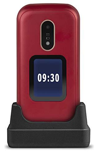 Doro 6060 - GSM Mobiltelefon im eleganten Klappdesign (3 MP Kamera, 2,8 Zoll (7,11cm) Display, GPS, Bluetooth) rot-weiß