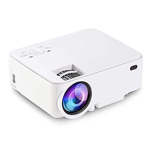 IJNBHU Mini proyector de Video, proyector práctico Soporte estéreo 1080P Sistema de enfriamiento 3500 S LCD Home Theater para TV Computadora portátil Caja SDTV Soporte HDMI USB SD AV Vga