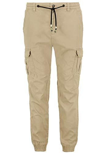 Eight2Nine Herren Cargo-Hose mit Kordeln und Stretch-Bund beige 32
