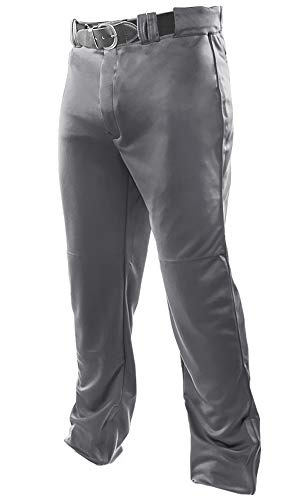 Joe's USA Open Bottom Relaxed Fit Style Baseball Pants (Graphite Adult Large)