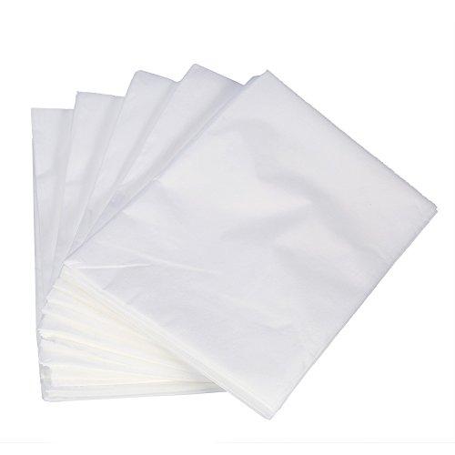 Juego de 10 sábanas de fibra de lavado (175 x 75 cm, no tejidas, impermeables, antiaceite, para tumbonas de tratamiento/camillas de masaje), color blanco