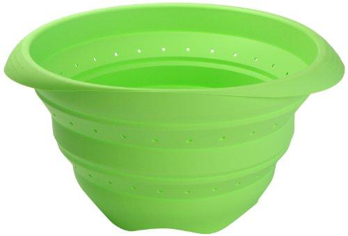 Lékué Colador colapsable, Silicona, Verde, 18 cm