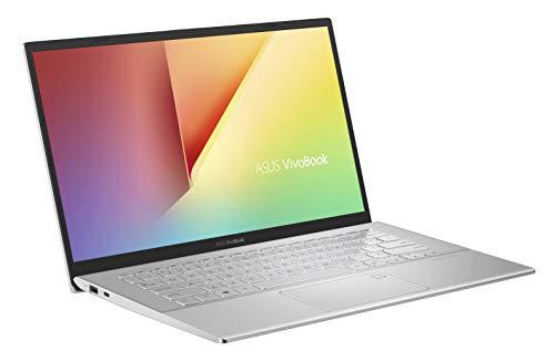 ASUS VivoBook 14 F420UA (90NB0LA1-M04060) 35,5 cm (14 Zoll, FHD, matt) Notebook (Intel Core i5-8250U, 8GB RAM, 256GB SSD, Intel UHD-Grafik 620, Windows 10) Transparent Silver