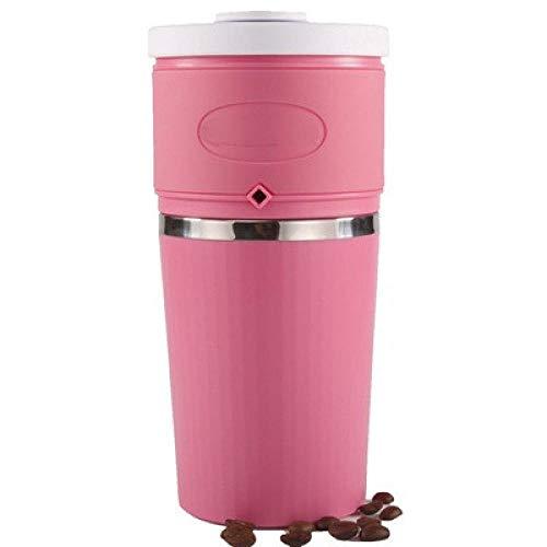 Draagbare koffiemachine met beker, Handmatige koffiemachine, Grinder, Hand koffiezetapparaat roze