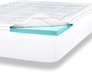 ViscoSoft 4 Inch Pillow Top Gel Memory Foam Mattress Topper Cal King | Serene Dual Layer Mattress Pad