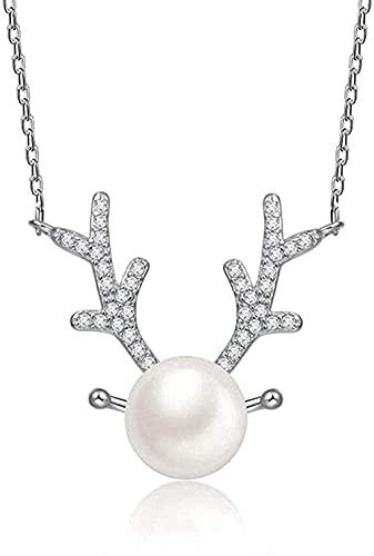 Collar Mujer Collar Collar de hombre Colgante Collar de plata Forma moderna Empoderamiento creativo Con incrustaciones de circonita Perla de imitación Elegante Fion Collares Joyas Pendientes Regalos p