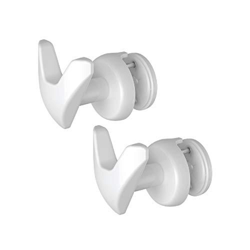 2 Handy Vip platte buizen - 2 handdoekrekken voor gestreepte handdoekverwarmers (platte buizen) - rechtstreeks op de gestreepte radiator bevestigen - wit
