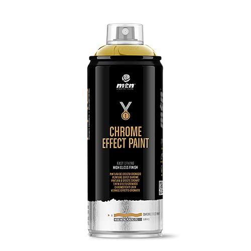 Montana Colors MTN Pro Efectos Metálicos-Oro Cromado, Spray 400ml, 400