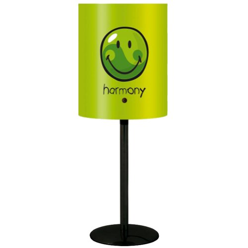 Incidence Paris 10343 LAMPE - Happy colors - Harmony - Vert anis, Métal/Polypropylène E14