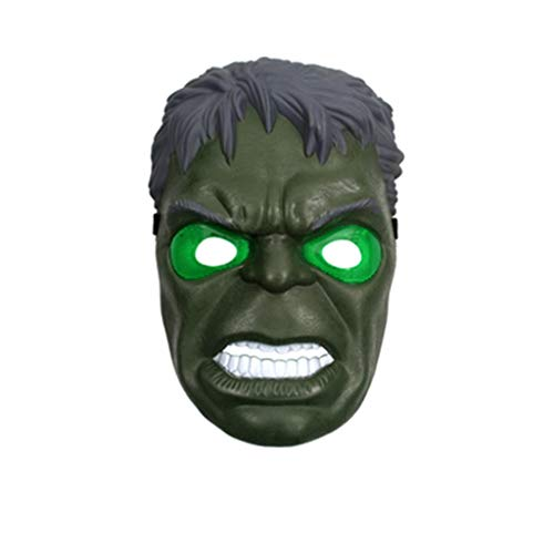 SSRS Avengers Hulk Black Panther Ant Man Thanos Mascara Resplandeciente Heroe Cosplay Fiesta De Regalos De Cumpleanos Halloween (Color : A)