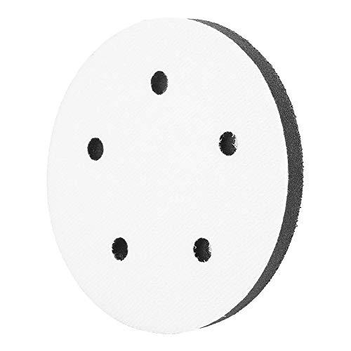 Schwamm-Schleifkissen Weiches Puffer-Schwamm-Interface-Kissenkissen zum Polieren von Glas, Kunststoff, Metall, 125 mm Durchmesser(8 holes)