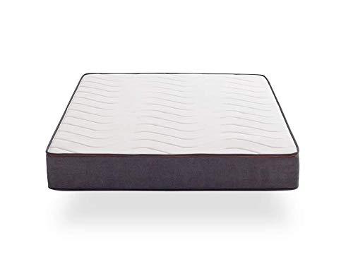 Khama Basic | Colchón de muelles ensacados con viscoelástica | Firmeza Alta 8/10, 150X200x28