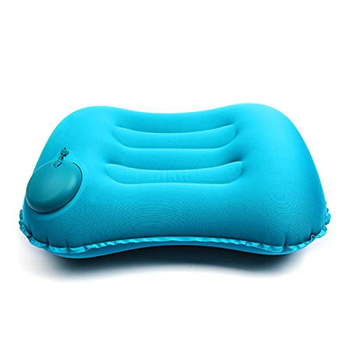 Outdoor Camp Camping Pillow - Ultralight Inflatable Travel Pillows -Hiking - Compressible, Lightweight, Ergonomic Neck & Lumbar Support - Perfect for Backpacking or Airplane Travel (Peacock Blue)