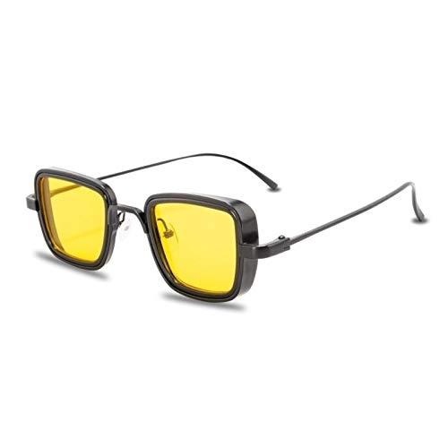 Gafas de Sol Sunglasses Nuevas Gafas De Sol Steampunk De Metal Vintage para Hombres Y Mujeres, Gafas De Sol Cuadradas para Hombres Y Mujeres, Elegantes Gafas Retro para H