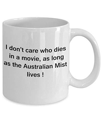 N\A La Momia Caminante y el Gato Taza Divertida Regalos para los Amantes del Gato - no me Importa quién muera Mientras Viva la Niebla Australiana - diversión de cerámica Lindo Gato lov