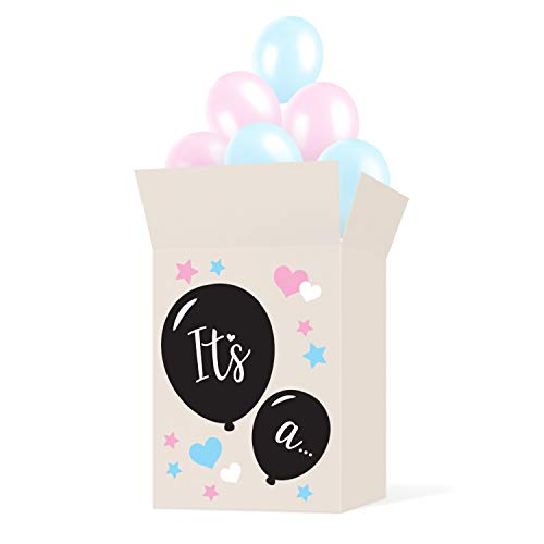 Gender Reveal Box Sticker Kit  Decorate Your Own Balloon Box  STICKERS ONLY  NO BOX  Use with Gender Reveal Balloon  Great For Baby Shower Party or as Decorations