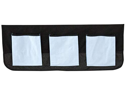 FLEXA BASIC Betttaschen Schwarz Blau für Kinderbett 83-90204