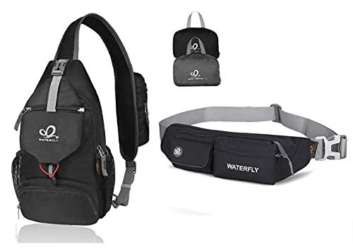 WATERFLY Water Resistant Hiking Bag Backpack Daypack Waist Fanny Pack Series