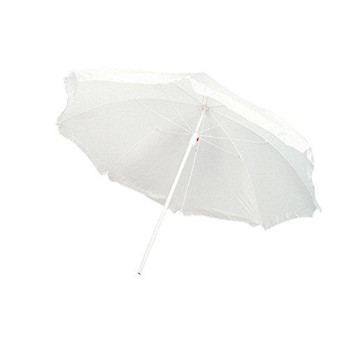 Strandschirm / Sonnenschirm / stufenlos verstellbar / Farbe: weiß
