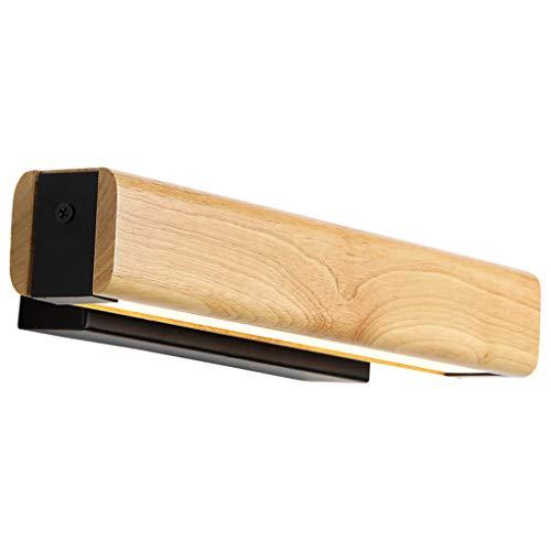 LIU WU FENG Moderne spiegellampen LED spiegellichten spiegellichten badkamerspiegel waterdicht en mistlampen gemaakt van hout [energieklasse A ]
