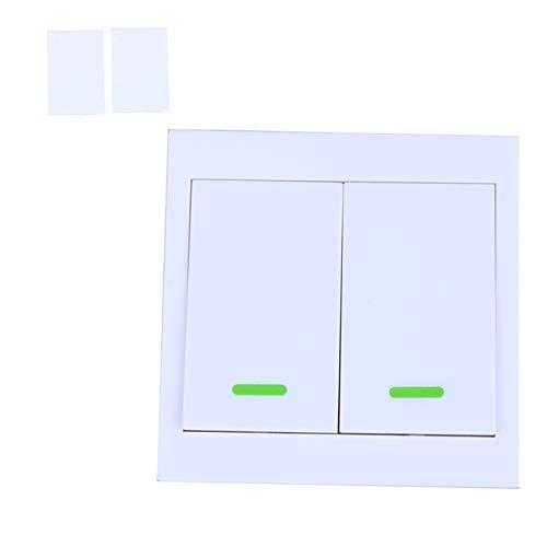 Interruptor Luz 2 PCS Panel de pared Interruptor de control remoto inalámbrico Transmisor 1 2 3 Botón Receptor de RF para la lámpara de luz de techo del dormitorio Interruptore Inteligente