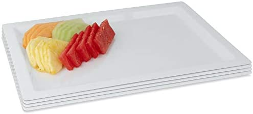 Serving Tray Japanese Style Rectangular Plastic Tray Food Serving Tray for S9L5