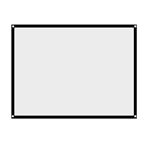 Rolloleinwand Beamer Leinwand,Richer-R Projektion Leinwand 60-100 Zoll Portable Faltbare Beamerleinwand,Tragbar Leinwand 4: 3 Heimkino Projektionsfläche für Outdoor-Camping-Film/Open-Air-Kino(60 Zoll)
