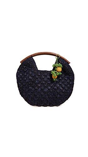Mar Y Sol Women's Isla Pineapple Clutch, Navy, Blue, One Size
