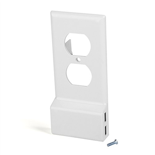 Dual USB Charging Wall Plate Cover Stekkerdoos met twee stopcontacten (ronde holle)