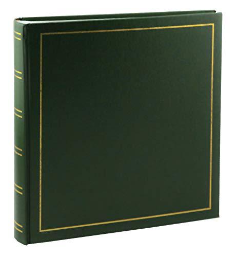 Tradition Fotoalbum in 30x30 cm 100 Seiten Jumbo Fotoalbum Buchalbum: Farbe: Grün